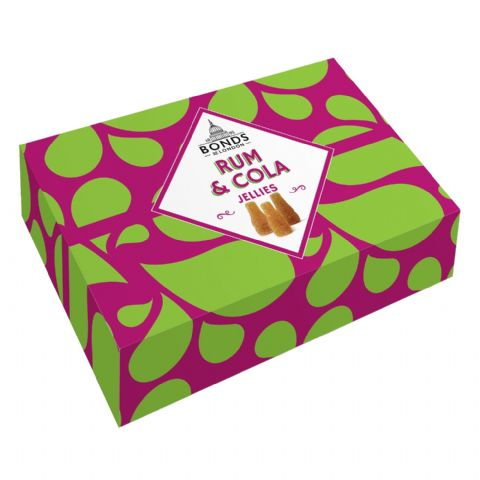 Rum & Cola Jellies Bonds of London Sweets Gift Box 175g